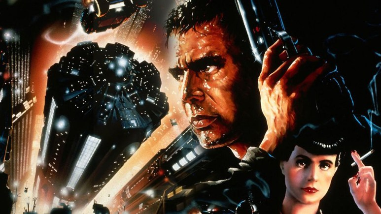 Harrison Ford on the Blade Runner poster