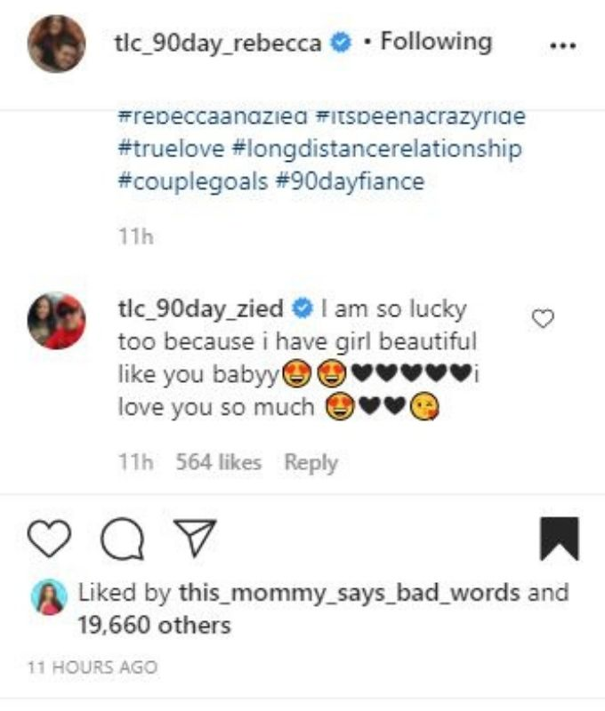IG comments from Zied