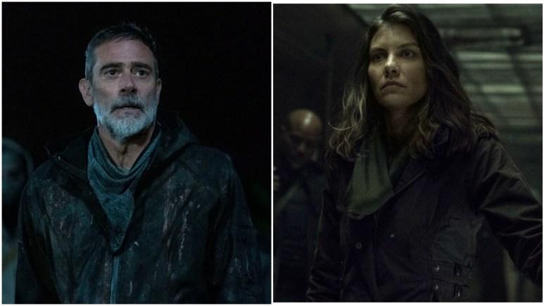 Jeffrey Dean Morgan as Negan and Lauren Cohan as Maggie, as seen in Season 11 of AMC's The Walking Dead
