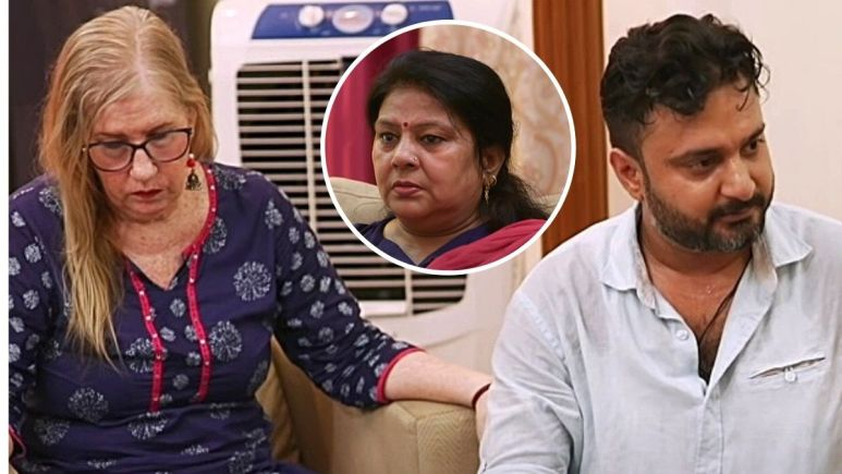 Jenny Slatten with Sumit Singh and his mom on 90 Day Fiance The Other Way
