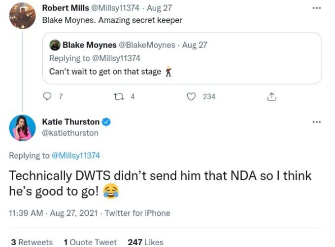 Katie Thurston responds on Twitter.