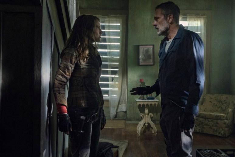 Lauren Cohan as Maggie Rhee and Jeffrey Dean Morgan as Negan, as seen in Episode 5 of AMC's The Walking Dead Season 11