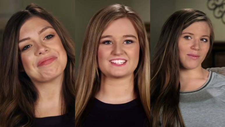 Lauren Swanson, Kendra Caldwell, Joy-Anna Duggar in confessionals.