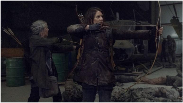 Melissa McBride as Carol Peletier and Lauren Cohan as Maggie Rhee, as seen in Episode 1 of AMC's The Walking Dead Season 11