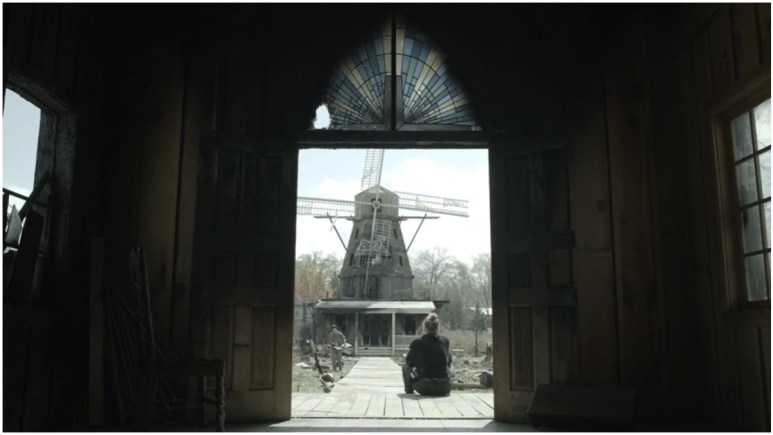 A view of the windmill in Alexandria, as seen in the Season 11 trailer for AMC's The Walking Dead