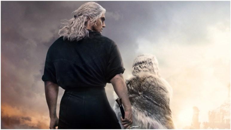 Key artwork for Season 2 of Netflix's The Witcher, featuring Henry Cavill as Geralt of Rivia and Freya Allan as Ciri