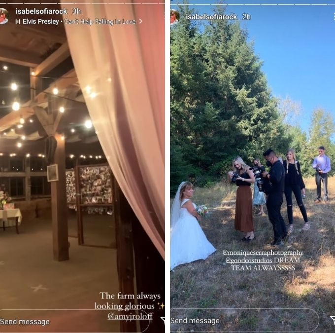 isabel roloff shared more pics of the wedding on instagram