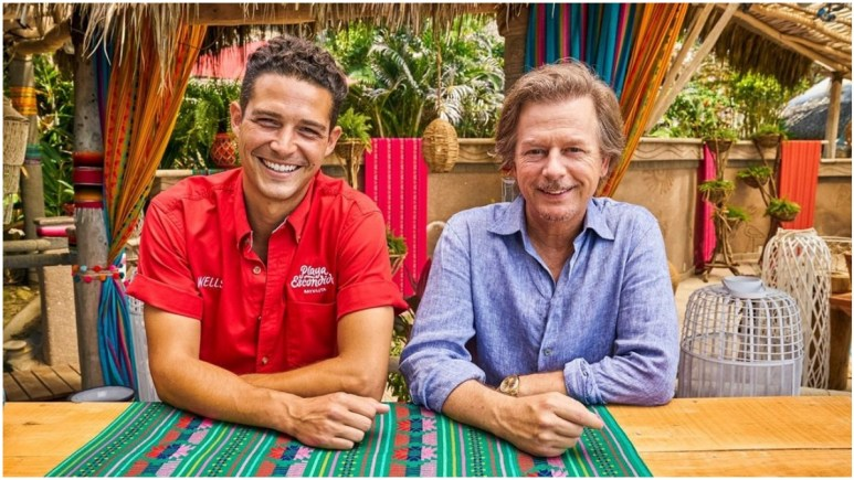 Wells Adams and David Spade on Bachelor in Paradise