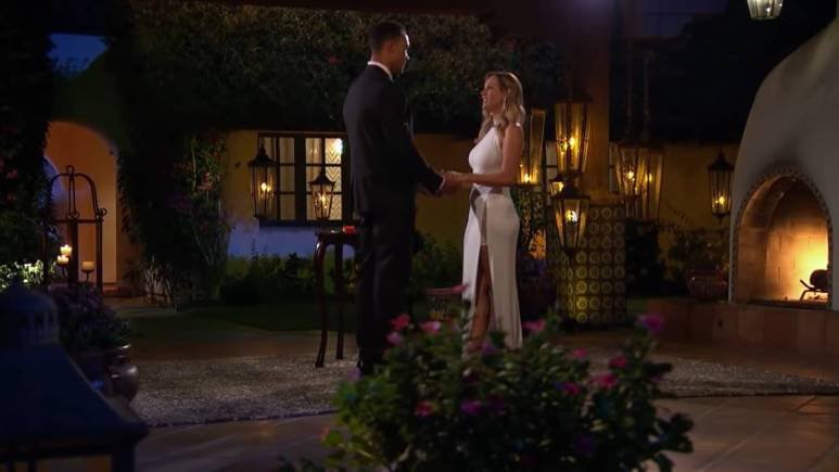 Clare Crawley and Dale Moss film for The Bachelorette