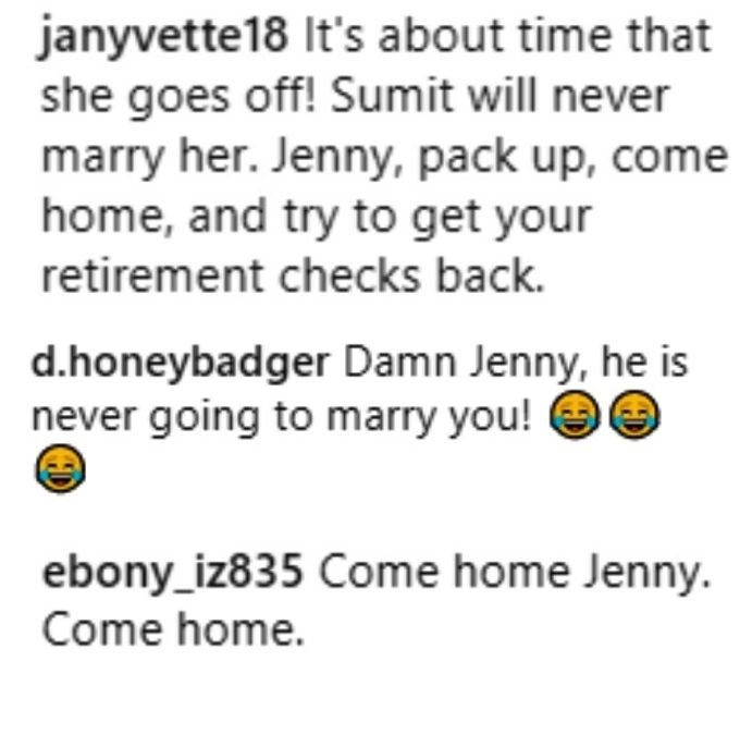 fans urge jenny slatten of 90 day fiance: the other way to leave sumit and come home to the u.s.