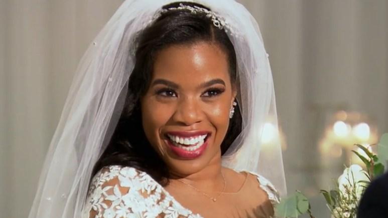 MAFS Michaela glows in her wedding gown