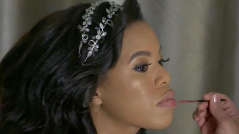 MAFS Michaela gets her makeup done