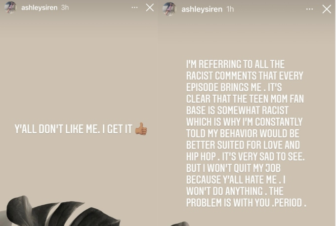 Ashley Jones lashes out at racist comments