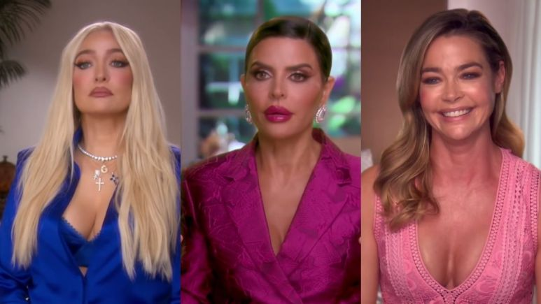 RHOBH star Lisa Rinna responds to questions that she's treating Erika Jayne differently than Denise Richards