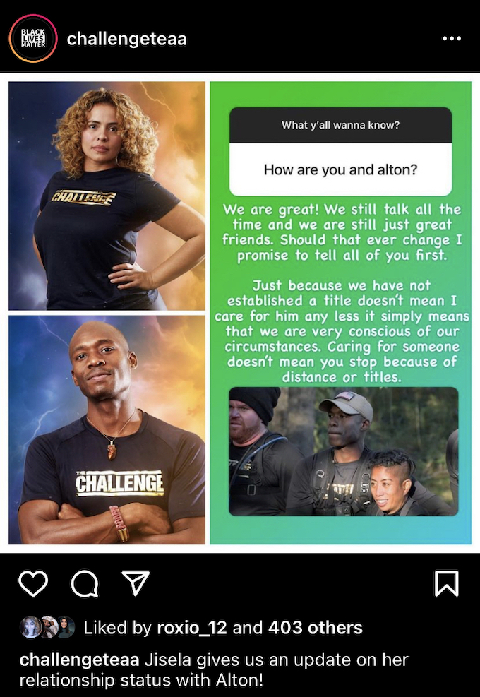 challengeteaa shares jisela delgado update about alton williams