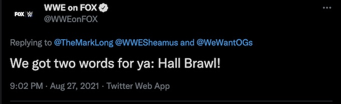 wwe on fox tweets to the challenge mark long