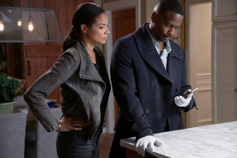 Rochelle Aytes and Keith Robinson.