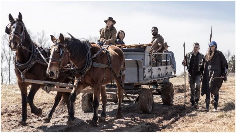 Aliyah Royale as Iris, Jelani Alladin as Will, Nico Tortorella as Felix, as seen in Episode 1 of AMC's The Walking Dead: World Beyond Season 2