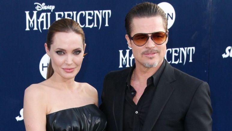 Red carpet image of Angelina Jolie and Brad Pitt