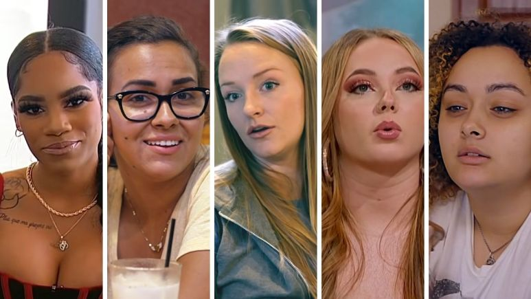Ashley Jones, Briana and Brittany DeJesus, Jade Cline of Teen Mom 2 and Maci Bookout of Teen Mom OG