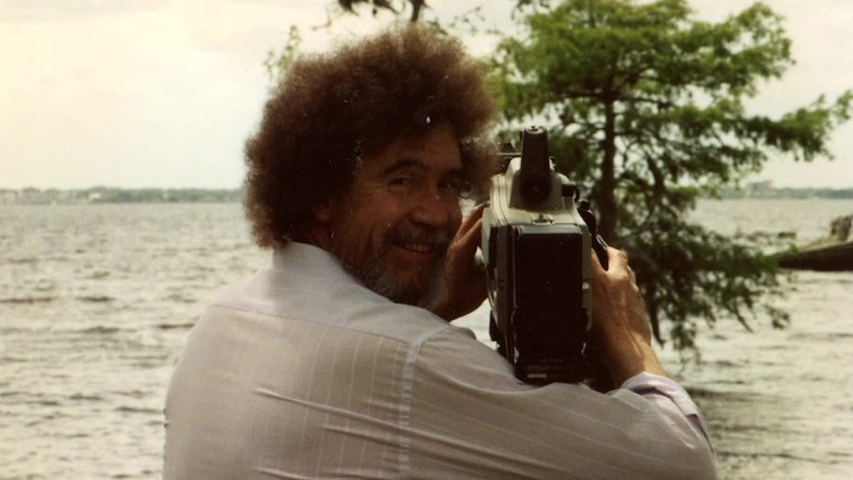 Bob Ross having fun with a camera