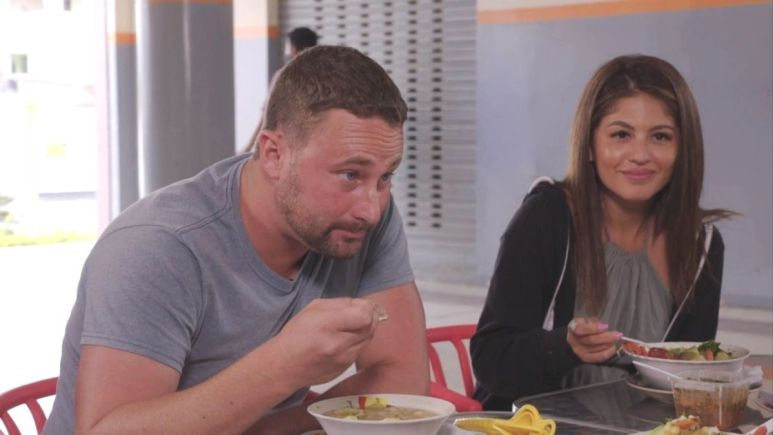 Evelin and Corey eat soup