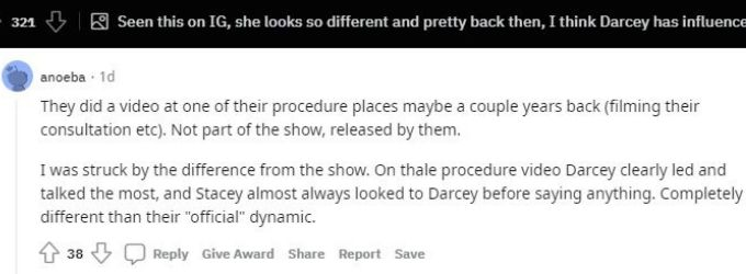 Reddit thread about Darcey and Stacey Silva