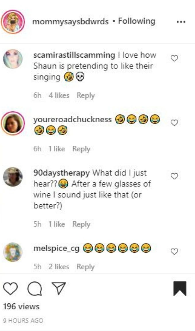 IG comments about Darcey and Stacey
