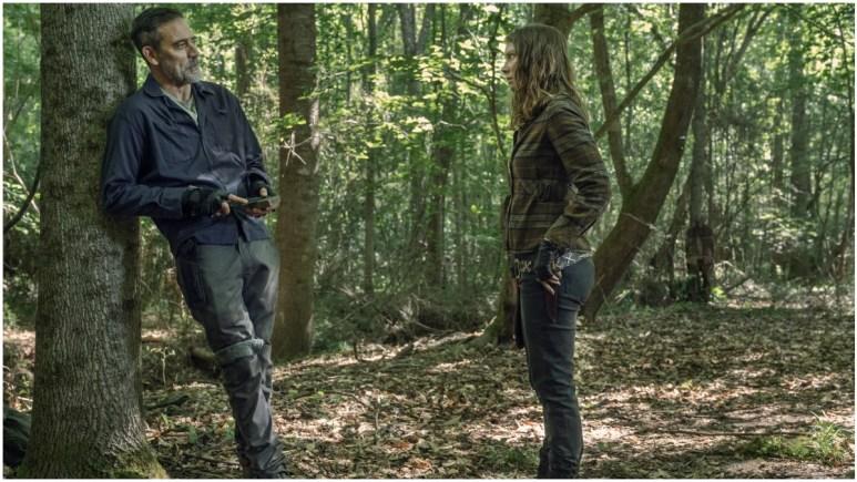 Jeffrey Dean Morgan as Negan and Lauren Cohan as Maggie, as seen in Episode 7 of AMC's The Walking Dead Season 11