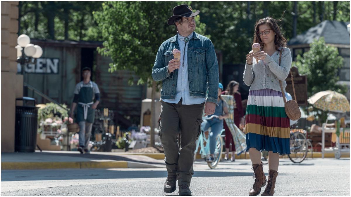 Josh McDermitt as Eugene and Chelle Ramos as Stephanie, as seen in Episode 5 of AMC's The Walking Dead Season 11