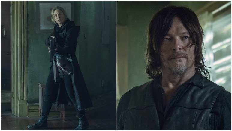 Lynn Collins as Leah and Norman Reedus as Daryl Dixon, as seen in Episode 6 of AMC's The Walking Dead Season 11
