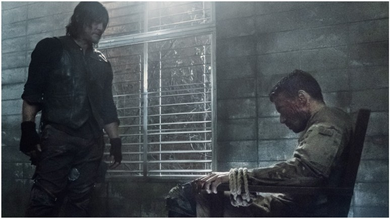 Norman Reedus as Daryl Dixon and Glenn Stanton as Frost, as seen in Episode 6 of AMC's The Walking Dead Season 11