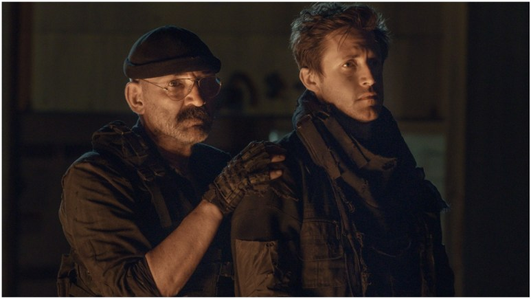Ritchie Coster as Pope and Michael Shenefelt as Bossie, as seen in Episode 4 of AMC's The Walking Dead Season 11