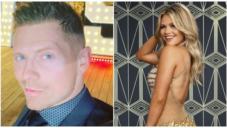 The Miz and Witney Carson on DWTS