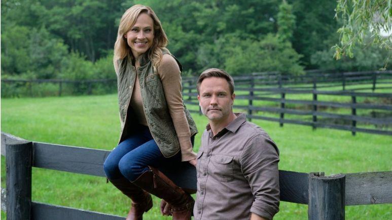Nikki DeLoach and Scott Porter in Hallmark Channel's Taking the Reins