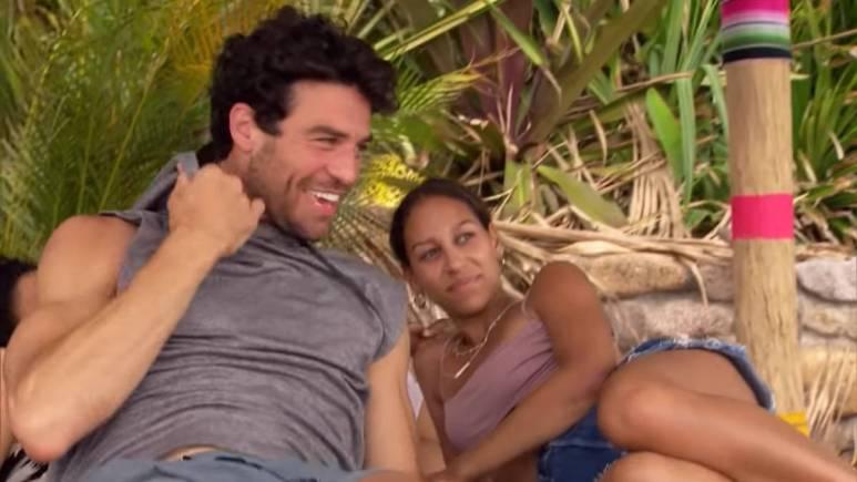 Joe Amabile and Serena Pitt film for Bachelor In Paradise