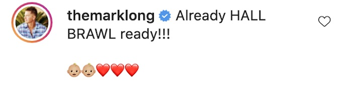 mark long leaves comment on zach nichols ig post