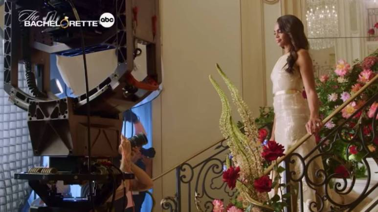 Michelle Young films for The Bachelorette