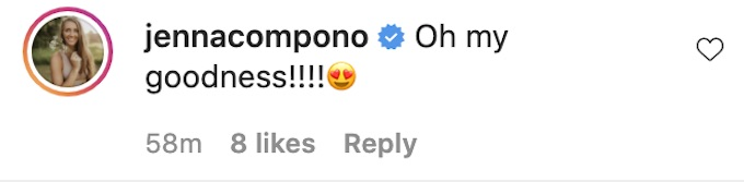 jenna compono comments tori hall baby post