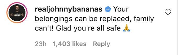 johnny bananas reacts tony raines hurricane story