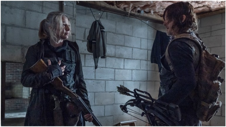 Lynn Collins as Leah and Norman Reedus as Daryl Dixon, as seen in Episode 7 of AMC's The Walking Dead Season 11