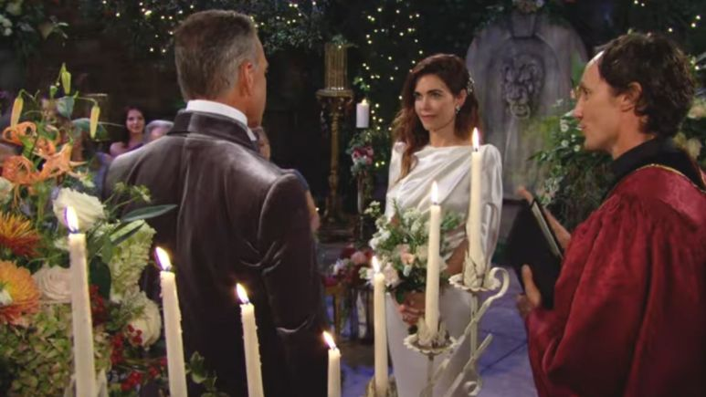 The Young and the Restless spoilers tease Ashland and Victoria's wedding begins.