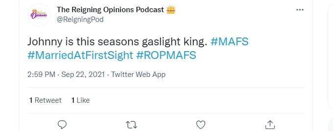 MAFS fans accuse Johnny of 'gaslighting' Bao