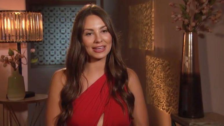 Kelley Flanagan in a red dress