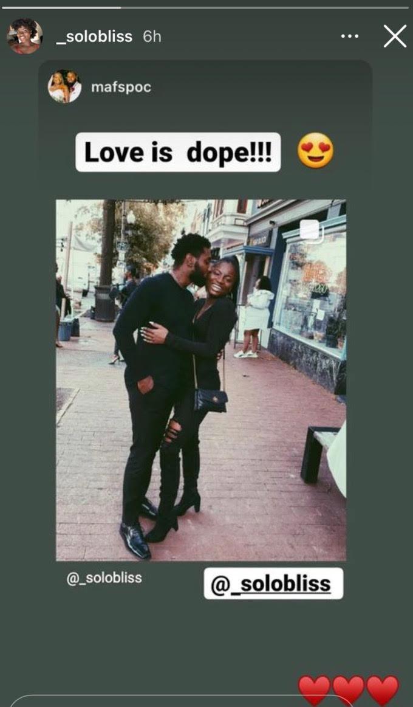 Meka Jones and her boyfriend
