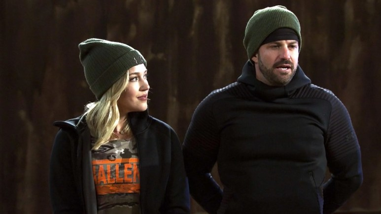 morgan willett with johnny bananas on the challenge war of the worlds