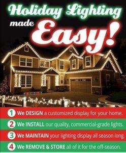 Holiday Lighting Installed on Long Island by Monster Wash