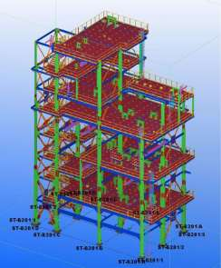STRUCTURE MODELLED BY TEKLA SOFTWARE – Tecnimont Tempa Rossa commission
