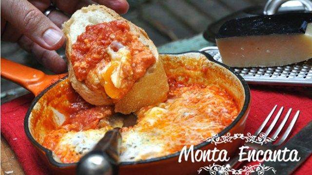 Ovo Mollet à Parmegiana, eggs in purgatory!