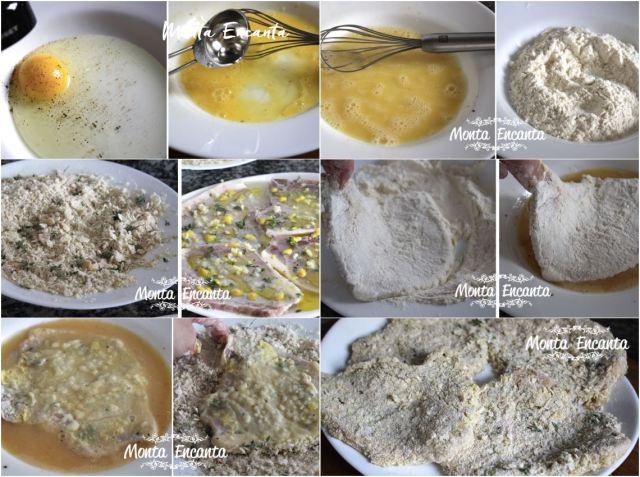 Bisteca de porco em crosta temperada